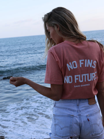 **NEW** Shark Shirt - No Fins No Future Save Sharks Tee - Wilddtail