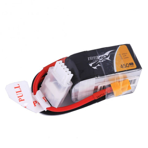 Tattu 450mAh 11.4V 75C 3S1P Lipo Battery Pack with XT30 plug
