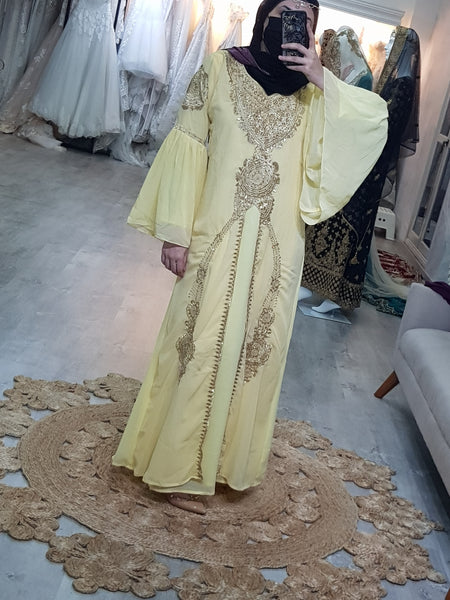 Leila Gypsy Kaftan in Diamond Yellow