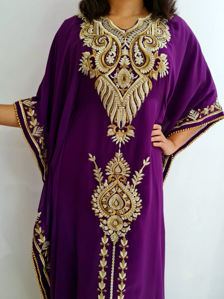 Ishtar Deep purple Kaftan