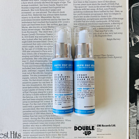 DOUBLE UP and save $ day + night skin saving duo