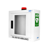 AED Accessories CardiAct Defibrillator Wall Cabinet with Strobe and Alarm CC50 1