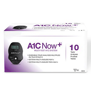 PTS Diagnostics A1C Now+ HbA1c Diagnostic Meter with 10 Test Cartridges