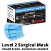 Surgical Mask Level 2 with Ear Loops - Box of 50