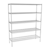 Nimble 5 Tier Wire Shelving Units - 489mm (Depth)