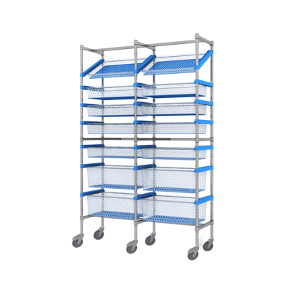 Nimble 60-40 Double Bay Storage System - Mobile