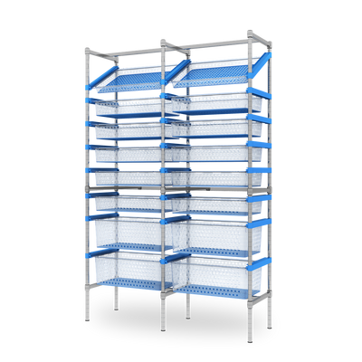 Nimble 60-40 Double Bay Storage System - Static