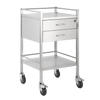Trolley and Cart Pacific Medical Single Trolley Stainless Steel with Lock 2 Drawer SST02 Lock 1