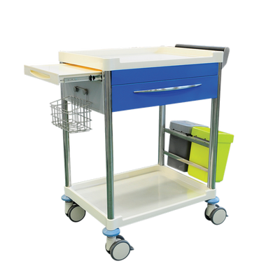 Pacific Medical Treatment Trolley Cart 1 Drawer with Bins 1