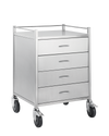 Pacific Medical 50cm x 50cm Stainless Steel Trolley