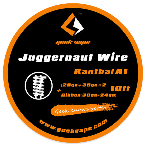10ft GeekVape Kanthal A1 Juggernaut Wire+Ribbon - Mygadget.us