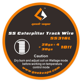 10ft GeekVape SS Caterpillar Track Wire - 28GAx4+30GA - Mygadget.us