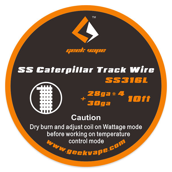 10ft GeekVape SS Caterpillar Track Wire, 28GAx4+30GA - Mygadget.us