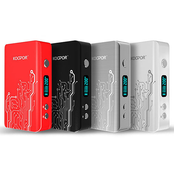 Box Mod Electronic Cigarette 200W KOOPOR Plus - Mygadget.us