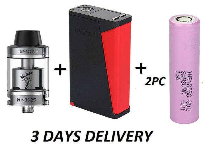 Super Offer! 220W SMOK H-PRIV + SMOK Minos + 2pc SAMSUNG INR18650-30Q - Mygadget.us