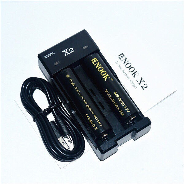 Safe and Small 18650 Charger Enook X2 *Free Shipping Worldwide* - Ecigar  - 1