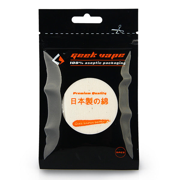 5pcs Japanese Organic Cotton - GeekVape Squares - Mygadget.us
