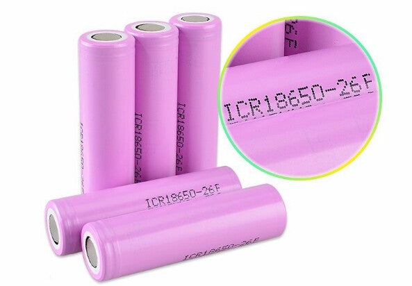 2 pcs Authentic Lithium Battery ICR18650-26F Samsung - Mygadget.us