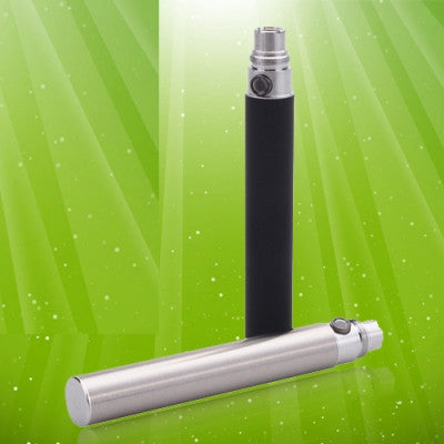 2 Pcs 1300mAh Electronic Cigarette Battery - Stainless Steel Color/Black - Mygadget.us