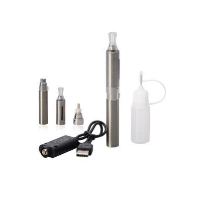 650mAh Detachable Electronic Cigarette with MT3 Bottom Heating Coil Visible Window Atomizer - Stainless Steel Color - Mygadget.us