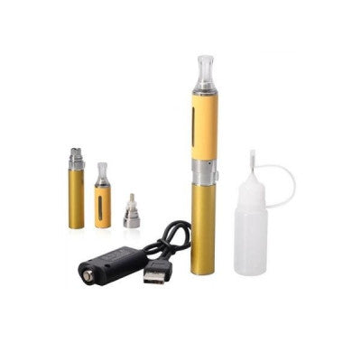 650mAh Detachable Electronic Cigarette with MT3 Bottom Heating Coil Visible Window Atomizer - Yellow - Mygadget.us