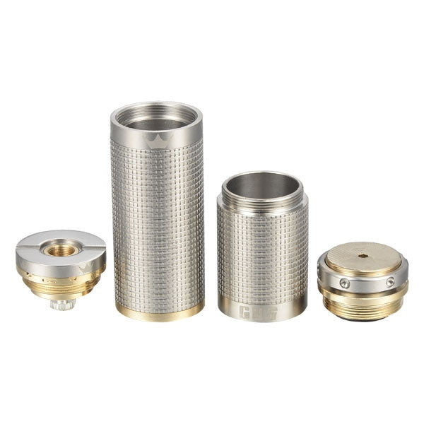 E-Cigarette Battery Tube - Stainless Steel Color, Tesla GUS 18650/18350 - Mygadget.us