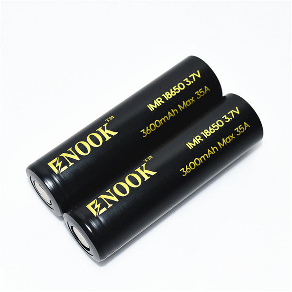 2 pcs 18650 batteries with Big Capacity - ENOOK 3600mah Safe and Reliable. - Mygadget.us