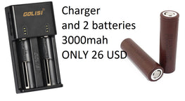 HIGH QUALITY CHARGER AND 2 PCS 18650 LG HG2 BATTERIES - 26 USD - Mygadget.us