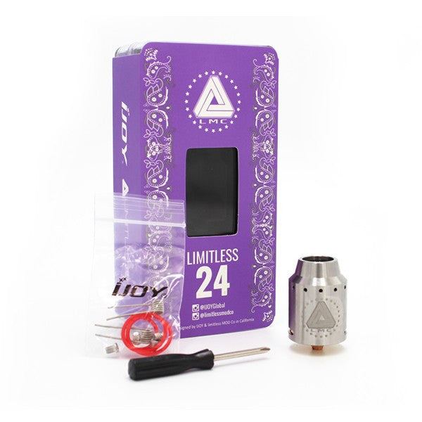 Genuine IJOY Limitless 24 RDA Atomizer. Amazing flavor and great vapor! - Ecigar  - 1