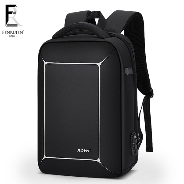 FRN Three-dimensional TSA Lock Anti theft Men 15.6 inch Laptop Backpack