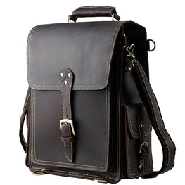 Brand Design Men Genuine Leather Backpack