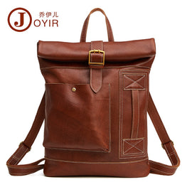 JOYIR Genuine Leather Men Backpack