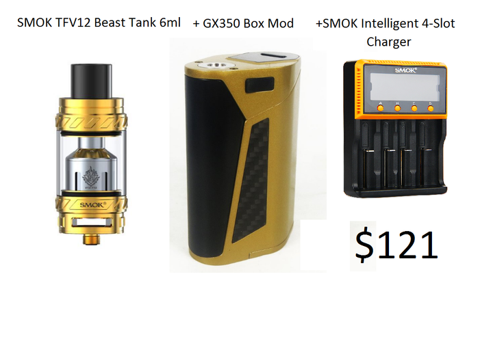 Smok Super Kit GX350 with TFV12 Tank and 4-Slot Charger PRE-Order - Mygadget.us