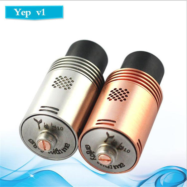 Genuine Yep V1 RDA Copper Color. More airflow holes than Mutation X. - Ecigar  - 1