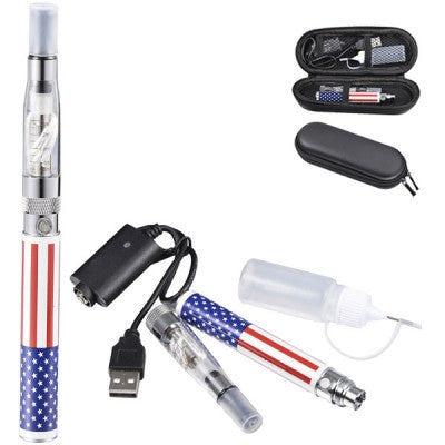 1100mAh US Flag E-Cigarette with Clearomizer - Mygadget.us
