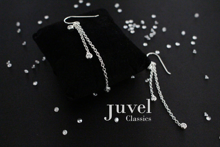 "Juvel Classic Double Chain 1"", 2"" Earrings"