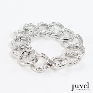 Juvel Brilliant Double Curb Chain Bracelet