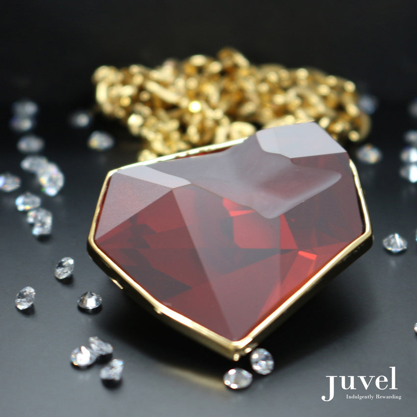 Juvel Fancy Red Magma Necklace (14K Gold Plated)