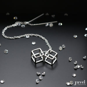 Juvel Classic: Threader Cubic Earrings