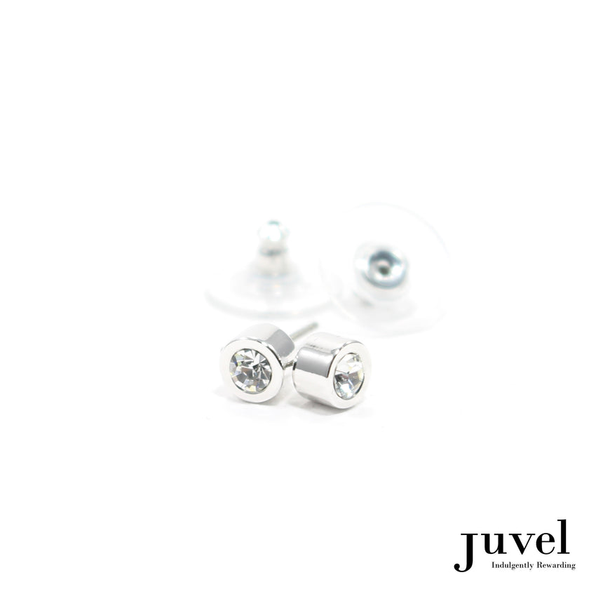 Juvel Off-Set Crystal Stud Earrings