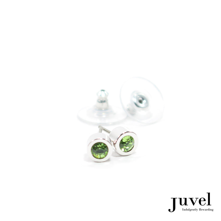 Juvel Off-Set Peridot Stud Earrings