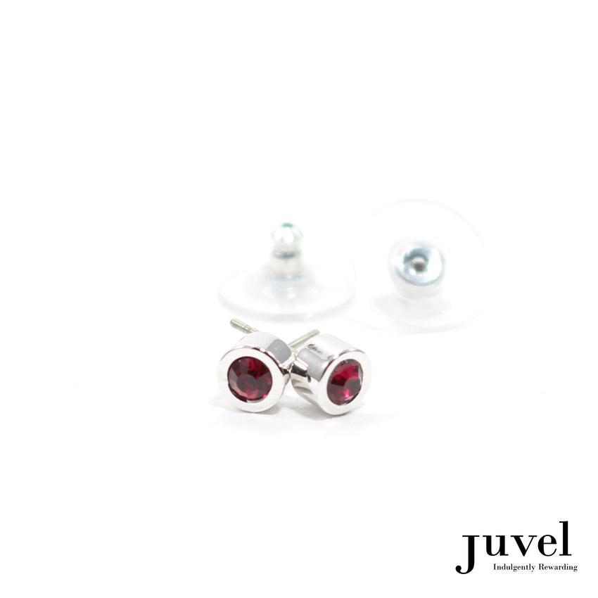 Juvel Off-Set Ruby Stud Earrings