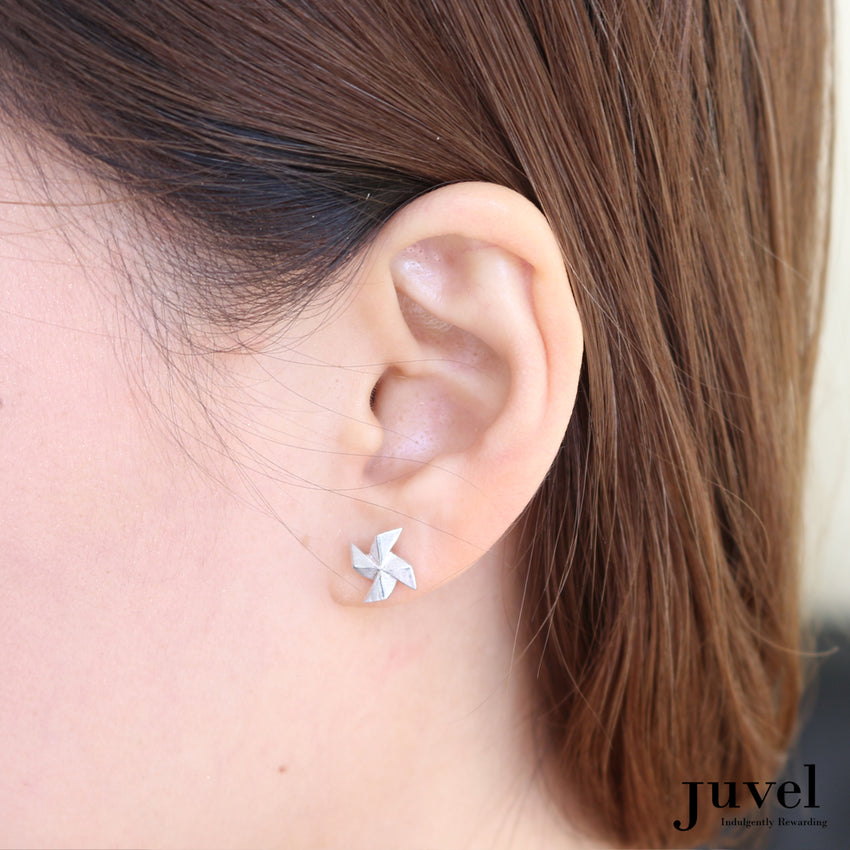 Origami Japanese Pinwheel Earrings