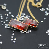 Juvel Double Red Magma (14K Gold Plated)