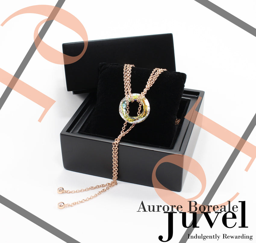 Juvel Gatsby Aurore Boreale Necklace (19K Pink Gold Plated)