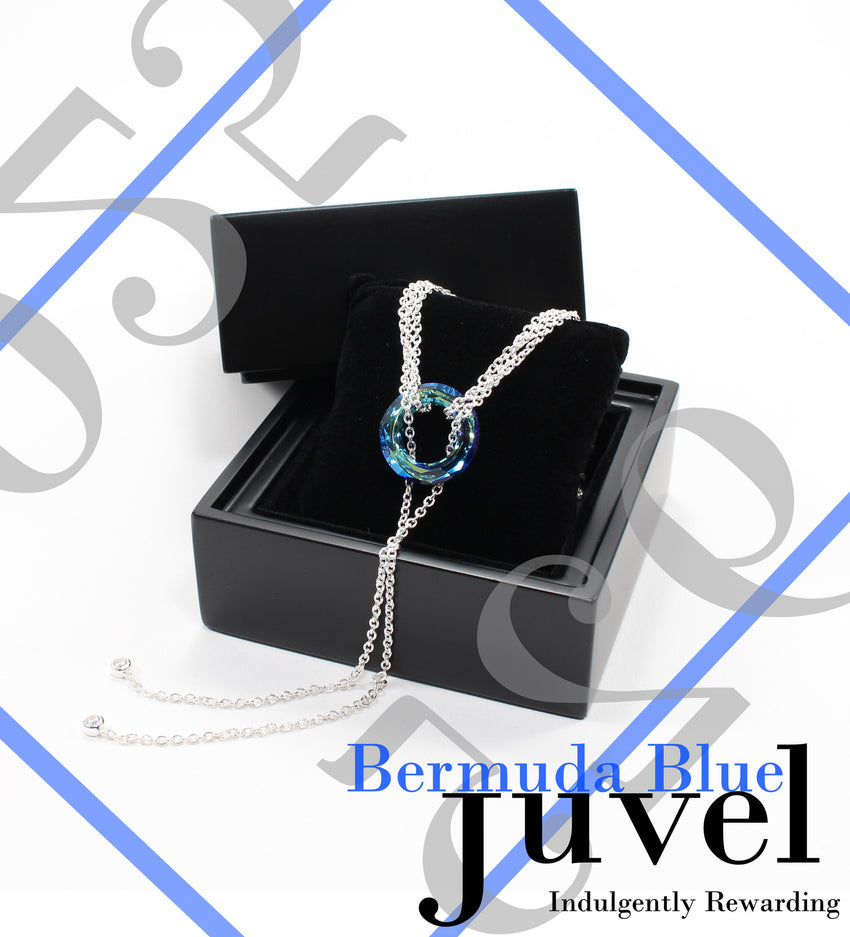 Juvel Gatsby Bermuda Blue Necklace