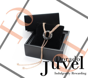 Juvel Gatsby Dorado Necklace (19K Pink Gold Plated)