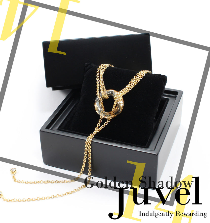 Juvel Gatsby Golden Shadow Necklace (14K Gold Plated)