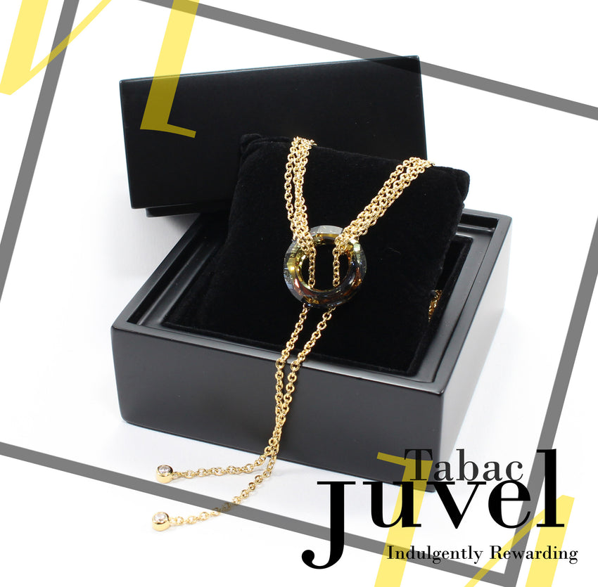 Juvel Gatsby Tabac Necklace (14K Gold Plated)
