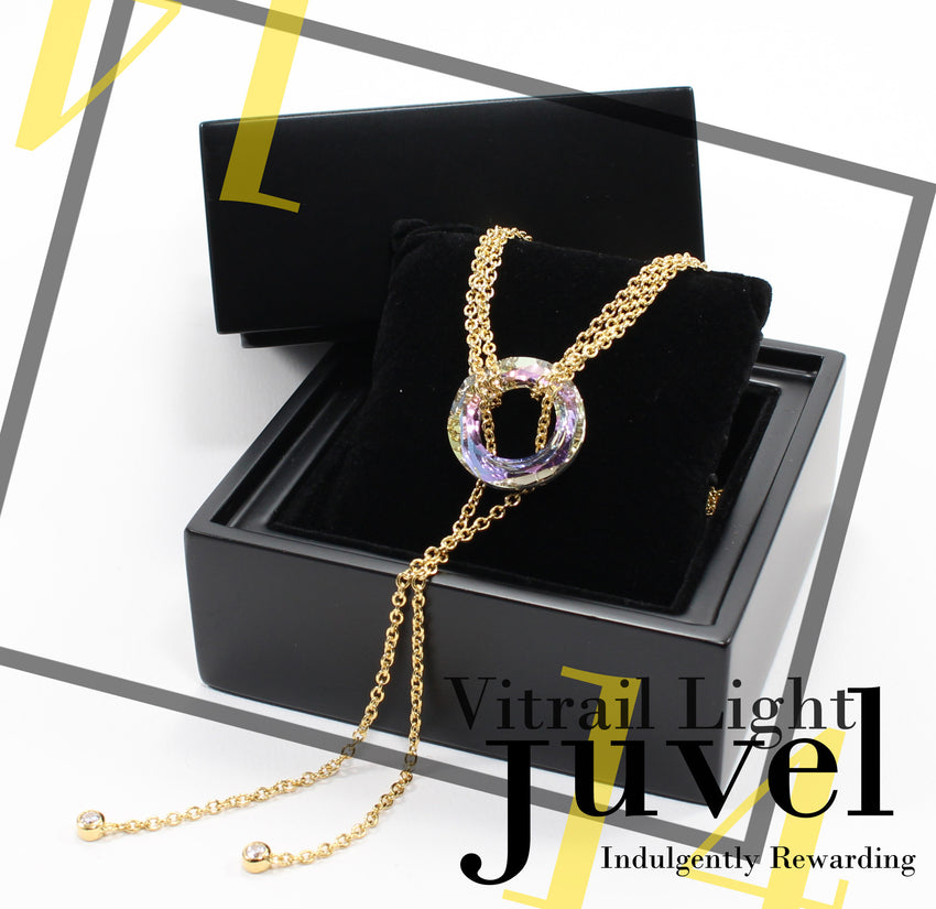 Juvel Gatsby Vitrail Light Necklace (14K Gold Plated)